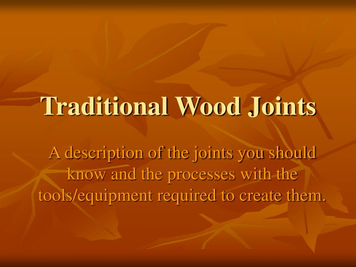 traditional wood joints n.