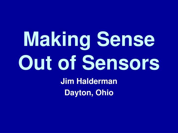 making sense out of sensors n.