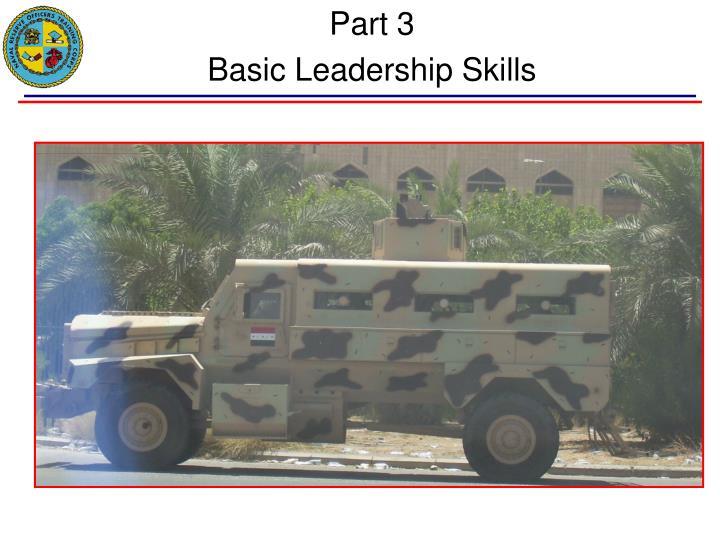 part 3 basic leadership skills n.