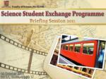 Science Student Exchange Programme
