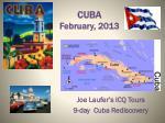 CUBA  February, 2013