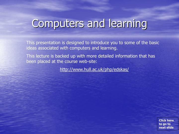 computers and learning n.