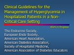 Inpatient Hyperglycemia in non-critical care setting