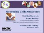 Measuring Child Outcomes