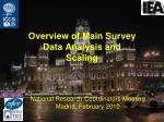 Overview of Main Survey Data Analysis and Scaling