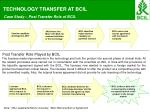 TECHNOLOGY TRANSFER AT BCIL