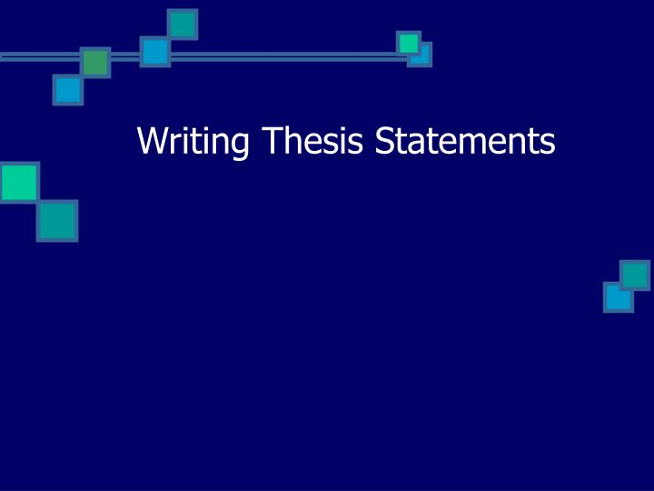 writing thesis statements n.