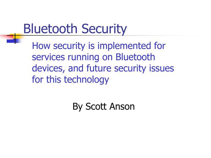 bluetooth security n.
