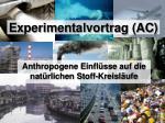 Experimentalvortrag (AC)