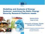 Antonio Soria Head of Unit Economics of Energy, Climate Change and Transport