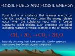 FOSSIL FUELS AND FOSSIL ENERGY