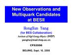 New Observations and Multiquark Candidates at BESII