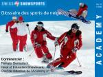 Conférencier : Renato Semadeni, Head of Education Snowboard,