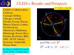 CLEO-c Results and Prospects