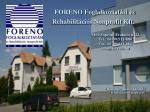 FORENO Foglalkoztatási és Rehabilitációs Nonprofit Kft.