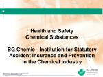 Health and Safety Chemical Substances