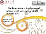 Study on fracture toughness and fatigue crack growth rate of X80 pipeline steel