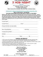 LAKE COUNTRY NEIGHBORS 3 HOG NIGHT Benefiting Rains  County Good Samaritans and Alba Food Pantry