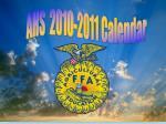 AHS  2010-2011 Calendar