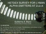 HETDEX SURVEY FOR LYMAN ALPHA EMITTERS AT 2<z<4