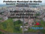 Prefeitura Municipal de Marília Secretaria Municipal de Economia e Planejamento