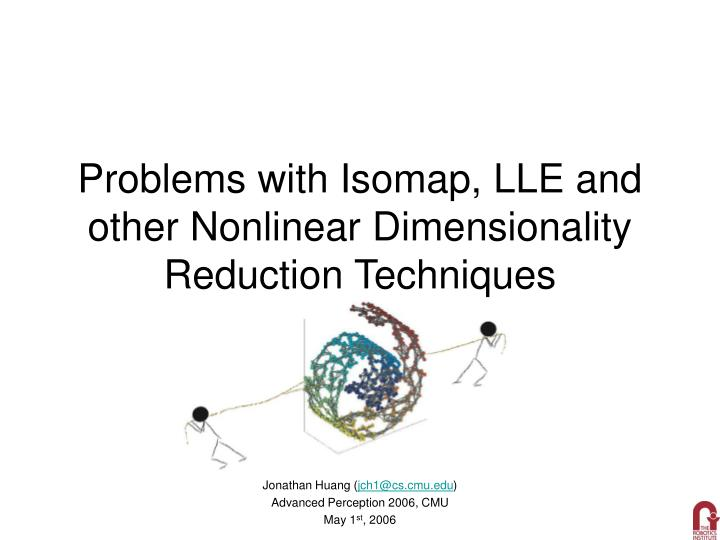 problems with isomap lle and other nonlinear dimensionality reduction techniques n.