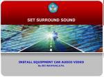 SET SURROUND SOUND