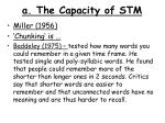 a. The Capacity of STM
