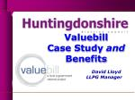 Valuebill Case Study  and Benefits David Lloyd LLPG Manager