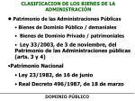 CLASIFICACION DE LOS BIENES DE LA ADMINISTRACIÓN