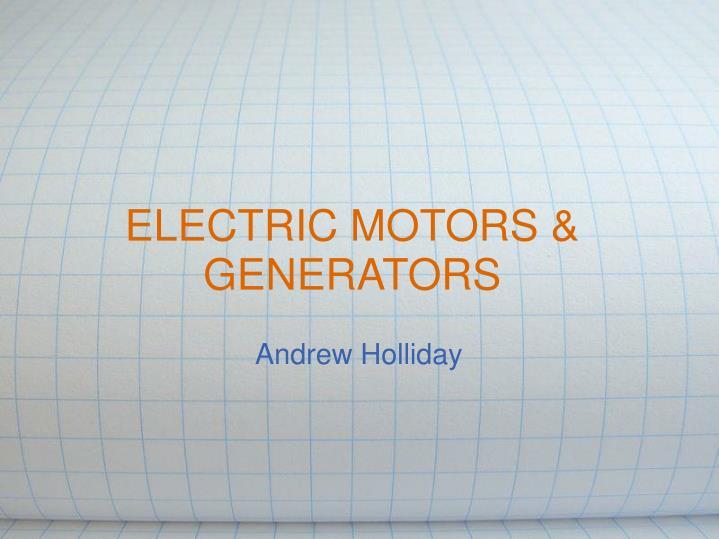 electric motors generators n.