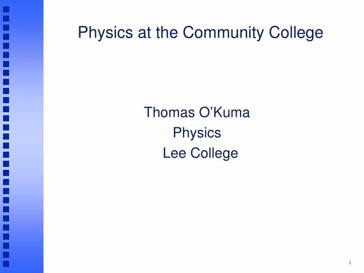 physics at the community college n.