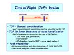 Time of Flight   ( ToF ) :  basics
