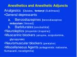 Anesthetics and Anesthetic Adjuncts Analgesics [ Opiates, fentanyl (Sublimaze)]