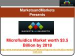 Microfluidics Market worth $3.5 Billion by 2018