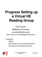 Progress Setting up a Virtual HE Reading Group
