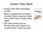 Carbon Fiber Mesh