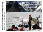 Art for Chapter 13, Configuration Management