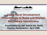 Presentation by Jeff Yost to the North Country Symposium – April 2009