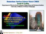 Outline STM Nanofabrication on Si Deuterium Passivation Carbon Nanotubes on Silicon