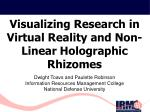 Visualizing Research in Virtual Reality and Non-Linear Holographic Rhizomes