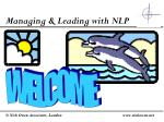 Managing & Leading with NLP