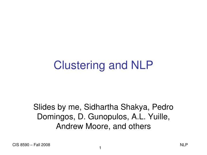 clustering and nlp n.