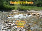 Planning 319/NPS Projects