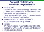 National Park Service Hurricane Preparedness