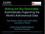 Making the Sky Searchable: Automatically Organizing the World's Astronomical Data