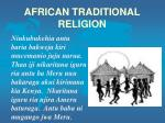AFRICAN TRADITIONAL RELIGION