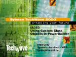 IA353 Using Custom Class Objects in PowerBuilder