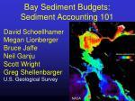 Bay Sediment Budgets: Sediment Accounting 101