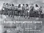 Exploring Nontraditional Careers